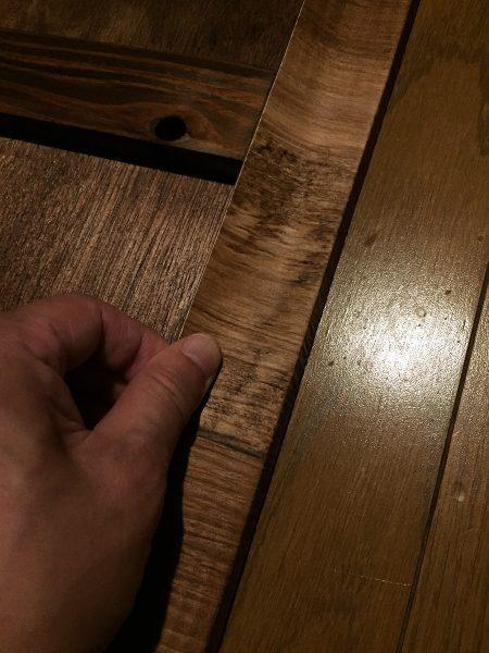 木目の壁紙を和室に