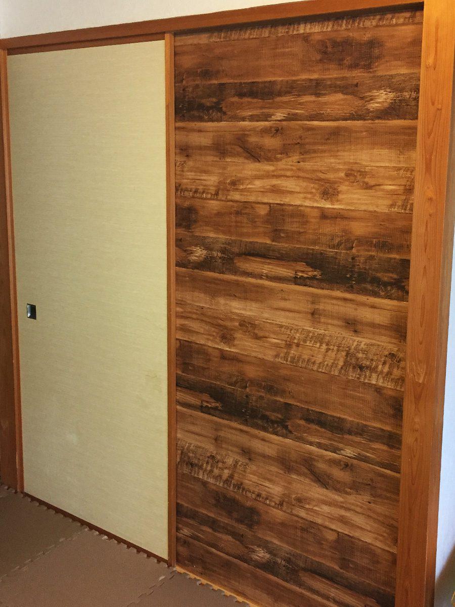和室の押入れの襖をDIYで洋風化