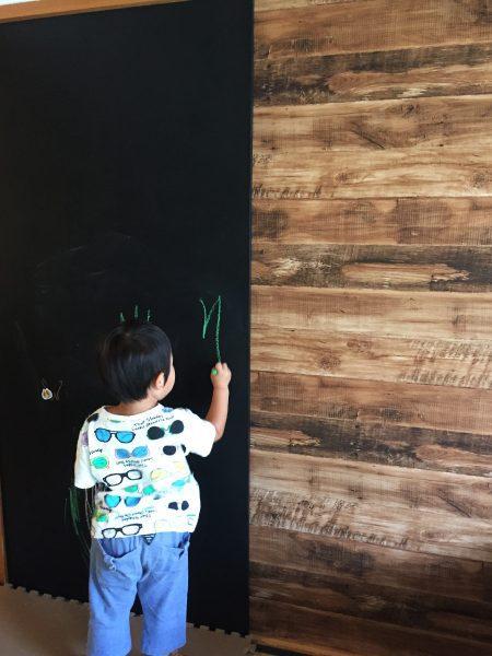 自作DIYの黒板が完成