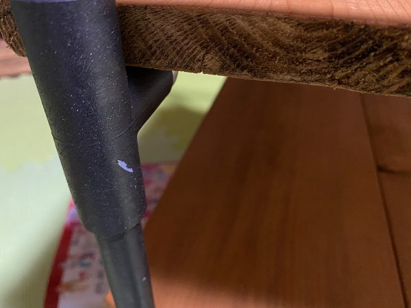 ターナーのアイアンペイント(ブラック)を塩ビ管に塗装
