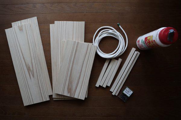 自作木箱の材料