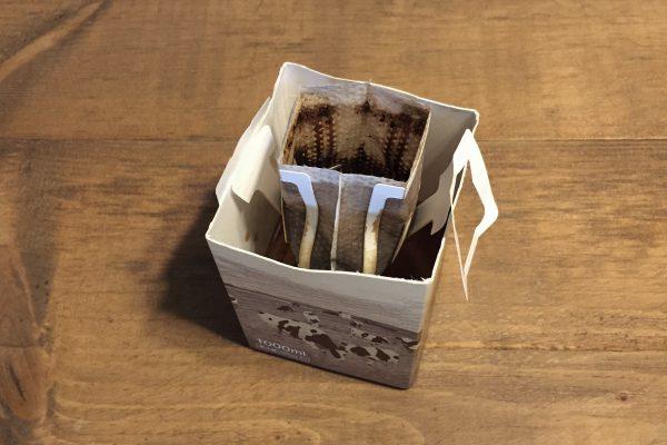 綿ロープをコーヒーのティーバッグの出しがらで染めてみました。