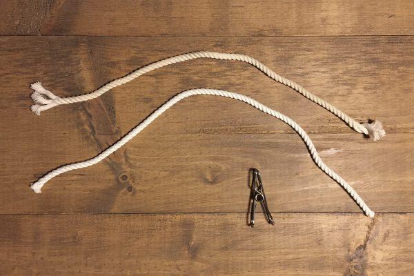 コーヒーで染めた綿ロープ