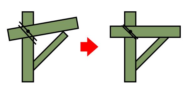竹馬のステップ制作