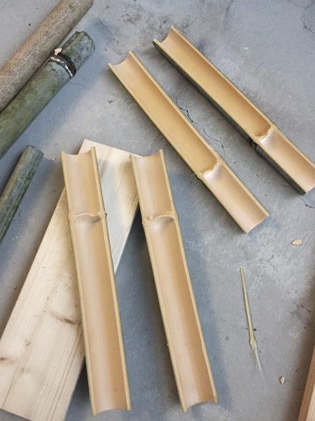 竹馬の足を掛ける部分の制作