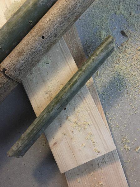 竹馬の足を掛ける部分のつっかい棒の制作